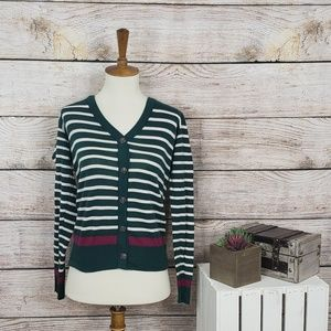 Urban Outfitters BDG Striped Cardigan Green S